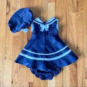 Rare Editions Sailor Outfit Dress Hat Bloomers